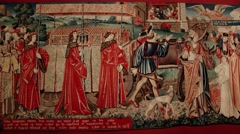 Medieval Tapestry 5 at at 29.9fps Stock Footage