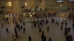 People on the floor of Central Station in New York City. Stock Footage