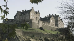 Edinburgh Castle in Autumn Stock Footage