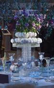 Wedding centerpiece table Stock Photos
