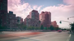 New york city west side traffic road 4k time lapse Stock Footage