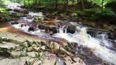 Mountain stream full of clean water - stock footage