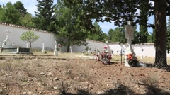Rural cemetery in Spain-Dan Stock Footage