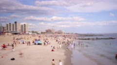 Coney island beach 4k time lapse from brooklyn new york city Stock Footage