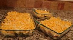 Freezer casseroles dolly shot Stock Footage