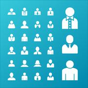 User icons Stock Illustration