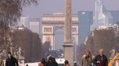 Paris Spring at 25fps Stock Footage