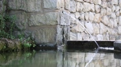 Source of drinking water in a village in Spain-Dan Stock Footage