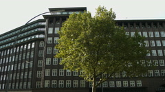 Chilehaus, Hamburg, side view Stock Footage