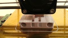 3D Printing Plastic Part Prototype - stock footage