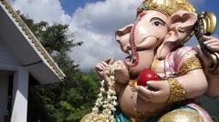 Elephant god statue Stock Footage