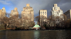 The Conservatory Water in Central Park Stock Footage