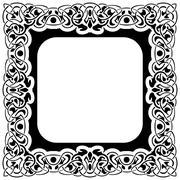 Black frame - stock illustration