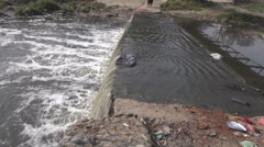 Stock Video Footage of catastrophic polluted river of Bagmati in Kathmandu, Nepal