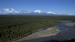 Mt Drum Alaska Time Lapse Stock Footage