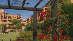 Tracking shot of vacation apartments, Mediterranean  Stock Footage