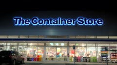 Container retail store windows and entrance Stock Footage