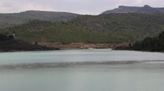 Taibilla dam landscape in Nerpio. Spain-Dan Stock Footage