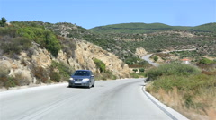 Travel the roads of Sithonia peninsula. Northern Greece. Stock Footage