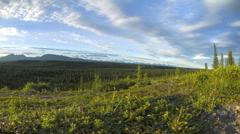 Central Alaska Range Sunset Time Lapse Stock Footage