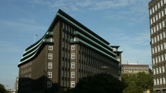 Chilehaus, Hamburg, frontal view Stock Footage