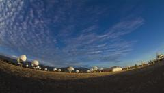 Allen Telescope Array w: Lassen Peak Time Lapse Stock Footage
