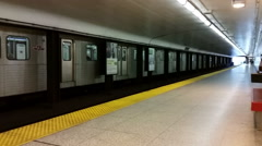 Subway station in Toronto Stock Footage