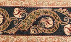 finely woven silk carpet - stock photo