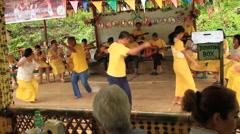 Philippine Visaya folk dancing and singing Stock Footage