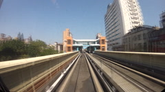 Timelaps Taipei elevated Rail Metro System-Dan Stock Footage
