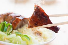 peking duck close up - stock photo