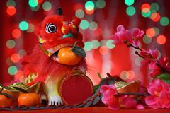 happy chinese new year celebrations - stock photo