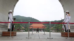 Change of guards Taipei National Palace Museum, Taiwan-Dan Stock Footage