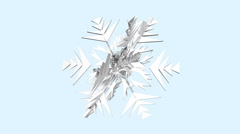 Christmas,winter,low-poly snowflake rotates (Seamlessly Loopable,alpha channe Stock Footage