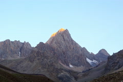 Mountains at dawn. TimeLapse, Pamir, Tajikistan. 4K+ Stock Footage