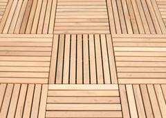wood deck panel floor background - stock photo