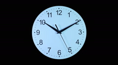 Clocks time-lapse with seconds hand Stock Footage