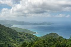 View from mission lodge lookout, seychelles Stock Photos