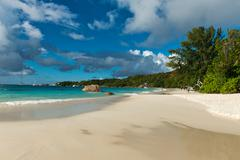 Beach at anse lazio, seychelles Stock Photos