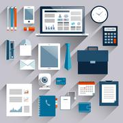 Stock Illustration of Business items set