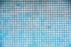 background texture of blue mosaic tiles - stock photo