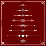 Christmas Rule Lines Stock Illustration