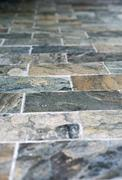 close up architectural flooring design - stock photo