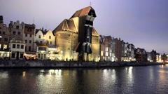 Gdansk Night - stock footage