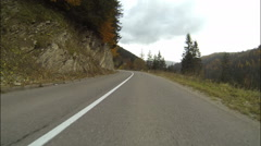 Driving on old road in mountains in Bosnia and Herzegovina - stock footage