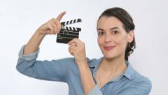 Having fun making movies and video clips - stock footage