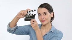 Enjoy making home movies - stock footage