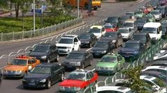 Traffic jam in Shanghai, China, BlackMagic 4K Camera Stock Footage