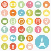 Set of travel icons design Stock Illustration