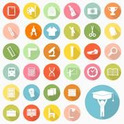 Set of education icons design Stock Illustration